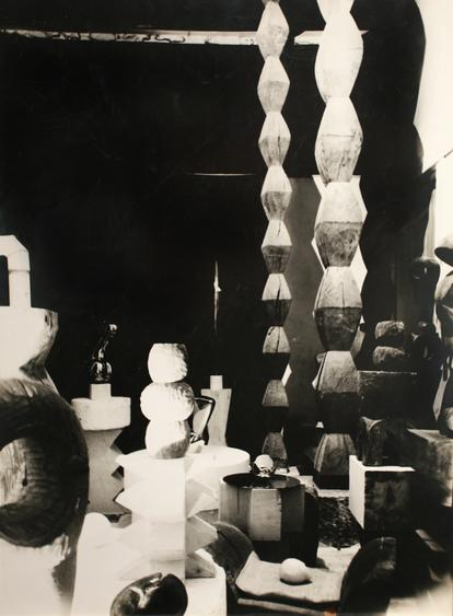 Overall View of the Studio, c. 1929-30 Gelatin silver print, printed c. 1929-30. 15 5/8 x 11 11/16 inches
