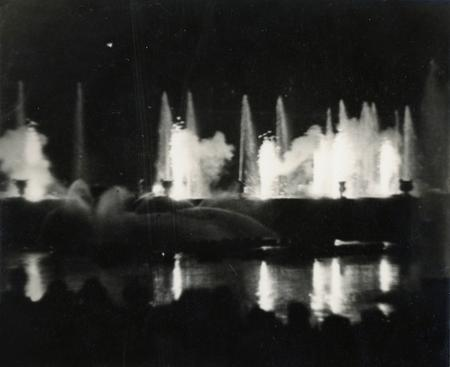 Versailles: Fountain at Night, 1930 Gelatin silver print, printed c. 1933. 4 3/8 x 5 1/8 inches