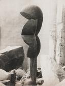 View of the Studio: Eve & Plato, c. 1922 Gelatin silver print, printed c. 1922. 15 5/8 x 11 3/4 inches