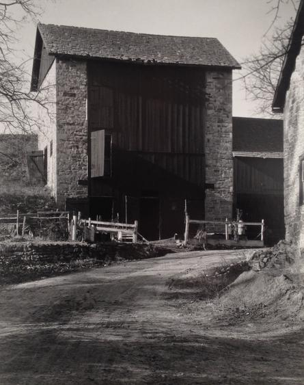 Bucks County Barn, 1915 Gelatin silver print mounted to board, printed c. 1939. 9 3/8 x 7 3/8 inches