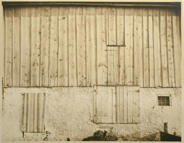 Side of White Barn, Bucks County, 1915 Gelatin silver exhibition print mounted to board, printed c. 1915 7 5/8 x 9 5/8 inches
