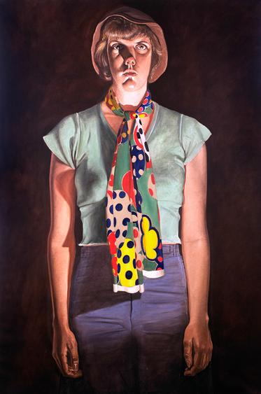 Cindy Cresswell, 1976-1977 Oil on canvas 108 x 72 inches