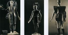 Costume designs for an Engineer Specialist in the year 4000, c. 1925 Gelatin silver prints mounted to paper
