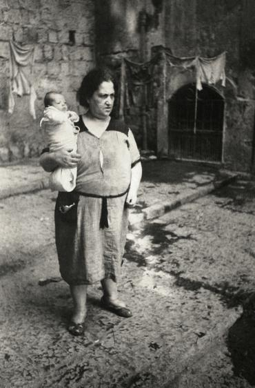 Naples Mother, Italy, 1950 Gelatin silver exhibition print mounted to aluminum 36 x 24 inches