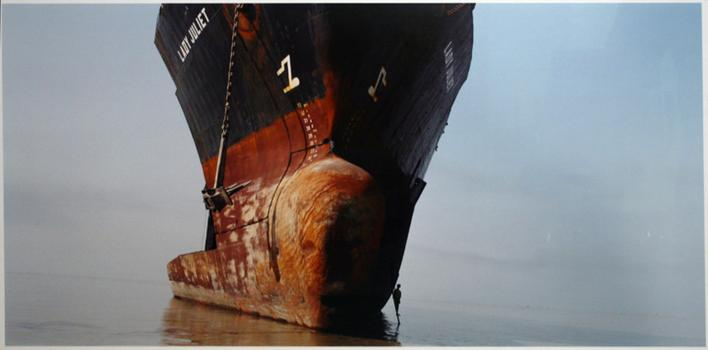 Shipbreaking #50, Chittagong, Bangladesh, 2000 Chromogenic print 22 1/2 x 45 inches