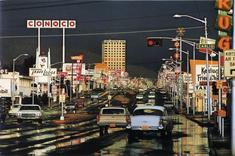 Ernst Haas Route 66, Albuquerque, New Mexico, USA, 1969 Chromogenic print.  30 x 40 inches