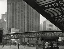In the West Street District, 1921 Gelatin silver print, printed c. 1921 6 1/2 x 8 1/2 inches