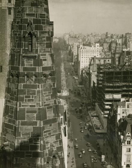 A View of Fifth Avenue from a Hotel Window, 1921 Gelatin silver print, printed c. 1921 7 x 5 3/4 inches