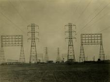 Edison Wireless, Electrical Pylons, Los Angeles, CA, 1926 Gelatin silver print, printed c. 1926 6 x 8 inches