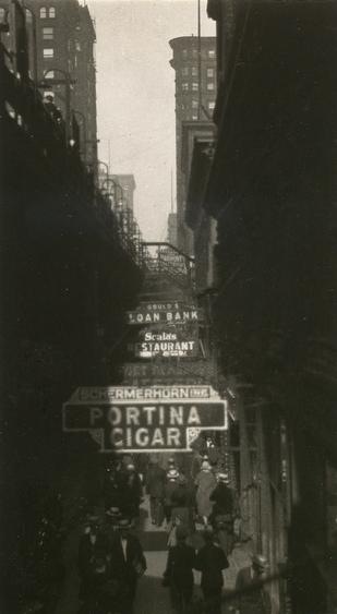 La Salle Street, Chicago, 1926 Gelatin silver print, printed c. 1926 4 1/4 x 2 1/2 inches