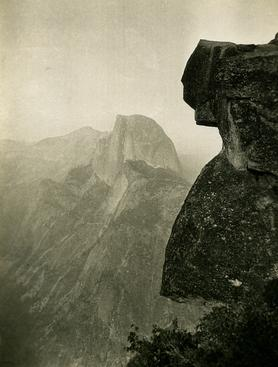Half Dome, Yosemite National Park, CA, 1926 Gelatin silver print, printed c. 1926 4 1/2 x 3 1/4 inches