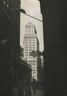 New York City, Wall Street on Armistice Day, 1925 Gelatin silver print, printed c. 1925 11 3/4 x 8 1/4 inches