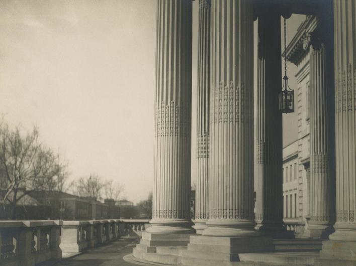 Columns, Washington D.C., 1926 Gelatin silver print, printed c. 1926 6 1/2 x 8 1/2 inches
