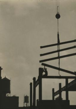 Steel Construction, Philadelphia, 1926 Gelatin silver print, printed c. 1926 9 1/4 x 6 1/2 inches