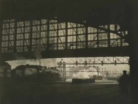 R. R. Station, Boston, Massachussetts, 1926 Gelatin silver print, printed c. 1926 7 x 9 inches