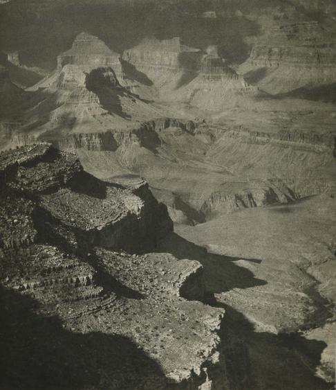 Grand Canyon, Sunlight Patterns, 1926 Gelatin silver print, printed c. 1926 9 3/4 x 6 3/4 inches