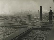 Stockyards, Chicago, Illinois, 1926 Gelatin silver print, printed c. 1926 6 1/2 x 8 1/2 inches