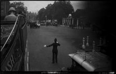 Traffic Policeman at Hyde Park Corner, London, c. 1918 Gelatin silver print, printed c. 1918 2 x 3 1/4 inches