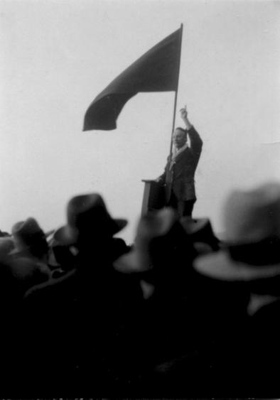 Orator, Hyde Park, London, c. 1933 Gelatin silver print, printed c. 1933 3 x 2 1/2 inches