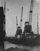 Cranes, London Docks, c. 1910 Gelatin silver print, printed c. 1910 4 1/2 x 3 1/2 inches