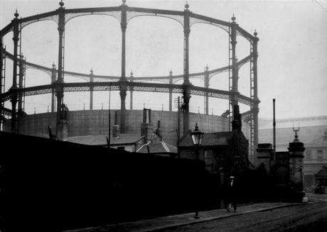 Fulham Gasworks, London, c. 1929 Gelatin silver print, printed c. 1929 4 3/4 x 6 3/4 inches