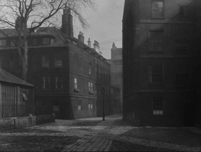 Clifford's Inn, London, c. 1918 Gelatin silver print, printed c. 1918 6 x 7 3/4 inches
