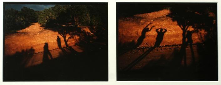Shadows, Sante Fe, New Mexico, 1978 Two cibachrome photographs 21 x 31 inches