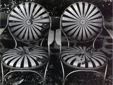 Garden Chairs, Autumn, 1941 Gelatin silver print mounted to board, printed c. 1941 7 x 9 1/2 inches
