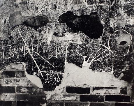 Wall Scrawls, Hornitos, 1940 Gelatin silver print mounted to board, printed c. 1951-52 7 1/2 x 9 1/2 inches
