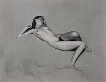 Nude, 1936 Gelatin silver print mounted to board, printed c. 1940  7 1/2 x 8 1/2 inches