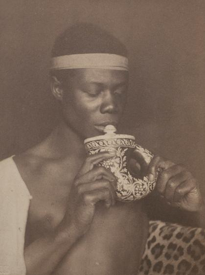 Nubia, c. 1896-1897 Toned platinum print mounted to card 5 7/8 x 4 3/8 inches