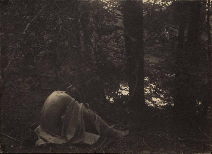 Kedan (Left Panel of Triptych Armageddon), 1897-1899 Platinum print, mounted to grey board, printed c. 1897-1899 4 3/4 x 6 1/2 inches