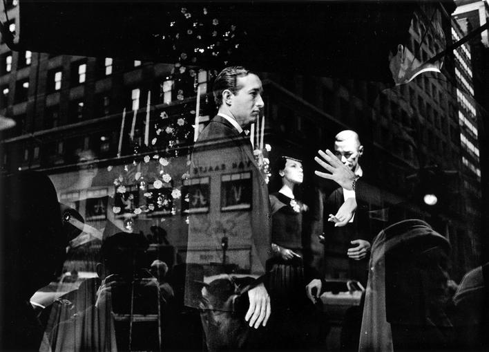Lord and Taylor Window Dresses, New York City, 1955 Gelatin silver exhibition print mounted to board, printed c. 1955 9 3/8 x 13 1/2 inches