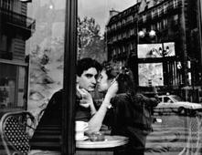 Oceon Cafe Couple, Paris, France, 1992 Gelatin silver print mounted to board, printed c. 1992 11 x 14 inches