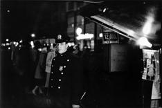 The Law, Times Square, New York City, 1956 Gelatin silver print mounted to board, printed later 11 x 14 inches