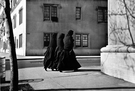 Three Nuns, Park Avenue, New York City, 1956 Gelatin silver print, printed later 11 x 14 inches
