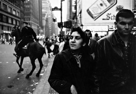 Couple, Times Square, New York City, 1956 Gelatin silver exhibition print mounted to board, printed c. 1956 11 x 14 inches