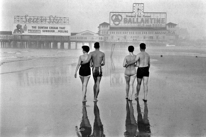 Atlantic City, 1955 Gelatin silver print mounted to board, printed later 11 x 14 inches