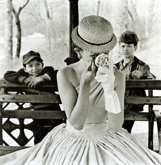 Makeup, Central Park, 1955 Gelatin silver print, printed c. 1970s 20 x 16 inches