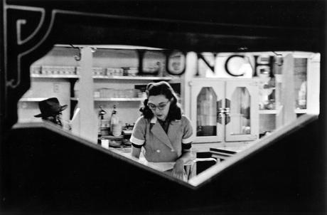 Lunch Counter, Chicago, 1952 Gelatin silver exhibition print mounted to board, printed c. 1952 9 3/4 x 15 1/8 inches