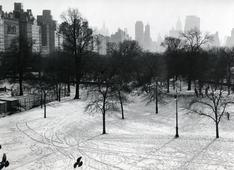 Central Park Cityscape, New York City, 1957 Gelatin silver exhibition print mounted to board, printed c. 1957 9 x 13 1/2 inches