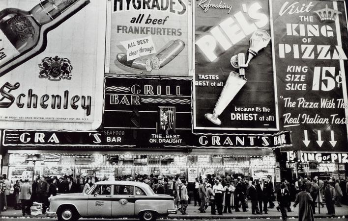 Grant's Bar, New York City, 1956 Gelatin silver print, printed c. later 11 x 14 inches