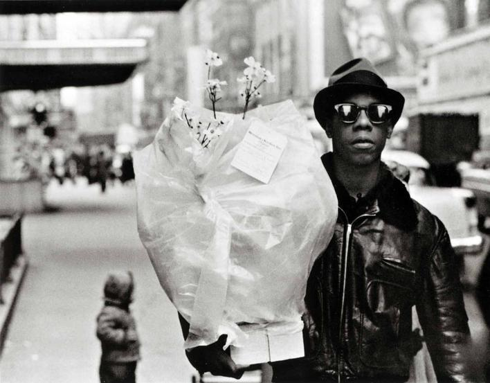 Flower Messenger, Times Square, 1955 Gelatin silver print 16 x 20 in. (40.64 x 50.8 cm) p.p1 {margin: 0.0px 0.0px 0.0px 0.0px; font: 10.0px Helvetica}