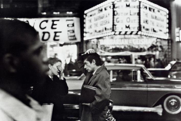 You Forgot the Tickets?!, Times Square, New York City, 1956 Gelatin silver print mounted to board, printed later 11 x 14 inches