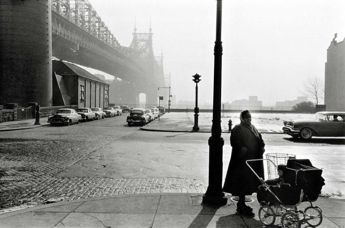 Queensborough Bridge, New York City, 1955 Gelatin silver print mounted to board p.p1 {margin: 0.0px 0.0px 0.0px 0.0px; font: 10.0px Helvetica} 9 x 13 1/2 in. (22.9 x 34.3 cm)