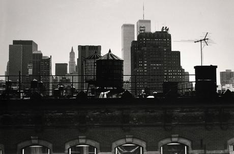 New York City, Twin Towers, 1982 Gelatin silver print 16 x 20 in. (40.64 x 50.8 cm)