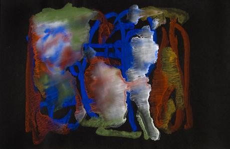 Frederick Sommer Untitled, 1956 Glue color drawing on paper 12 x 18 1/2 inches (30.5 x 47 cm)