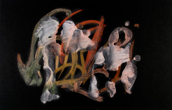 Untitled, 1955 Glue color drawing on paper. 12 x 18 1/2 inches