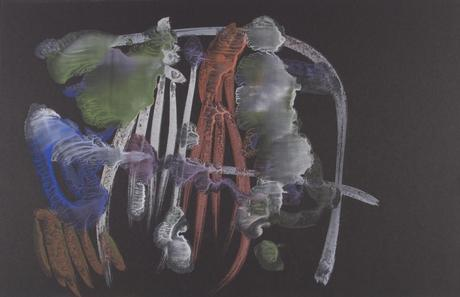 Frederick Sommer Untitled, 1955 Glue color drawing on paper. 12 x 18 1/2 inches