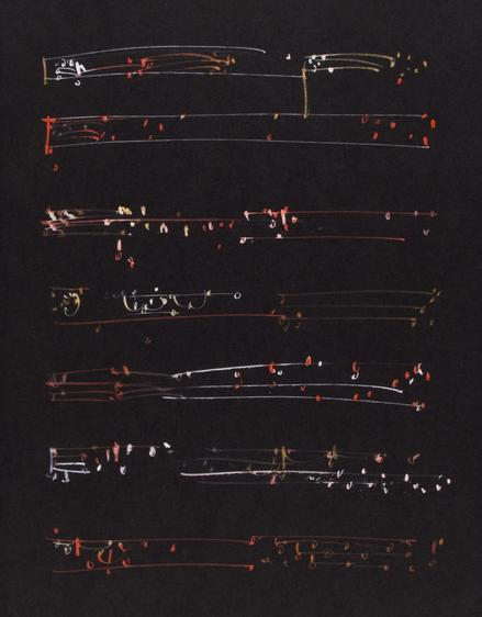 Frederick Sommer Untitled, c. 1950-55 Pen and glue color drawing on paper. 11 15/16 x 9 1/4 inches